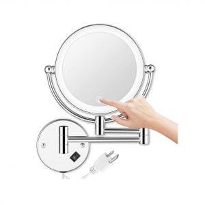 AMZNEVO Wall Mounted Makeup Mirror