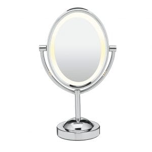 Conair Reflections Lighted Makeup Mirror, Polished Chrome