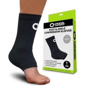 Crucial Compression Ankle Support Sleeve for Injury Recovery