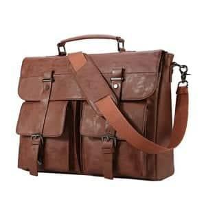 Seyfocnia Store Leather Messenger Bag for Men