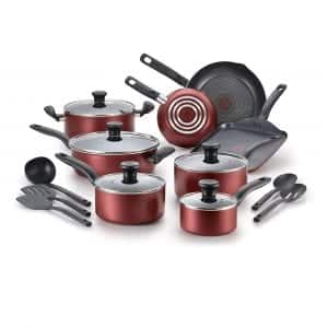 T-fal Dishwasher Safe18 Piece Cookware Nonstick Set