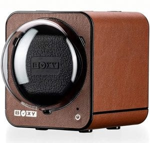 Fancy Brick Stackable Watch Winder for Single Automatic Watch (with AC Adapter)