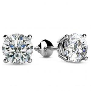 Houston Diamond District Solitaire Diamond Earrings