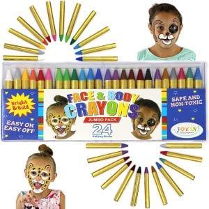JOYIN 24 Colors Body Crayons Paint kit