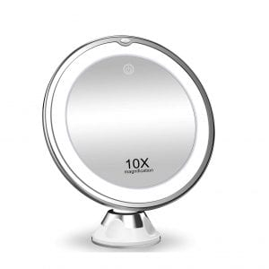 KOOLORBS Makeup Mirror with 3 Color Lighting and 360 Degree Rotation