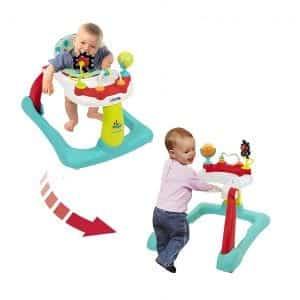 Kolcraft 2-in-1 Tiny Steps Infant & Baby Walker