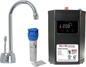 Westbrass HotMaster DT1F271-26 DigiHot Instant Hot Water Dispenser Faucet and Digital Tank System, Polished Chrome