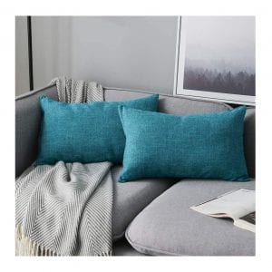 Anickal Set of Two 12 x 20 Inches Lumbar Pillow Covers