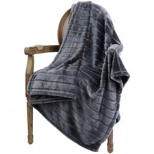Bertte Warm Super Soft Lightweight Blanket, Dark Grey