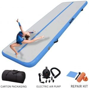 DAIRTRACK IBATMS Airtrack mat,10ft:13ft:16ft:20ft Tumble Track air mat for Gymnastics Training:Home Use:Cheerleading