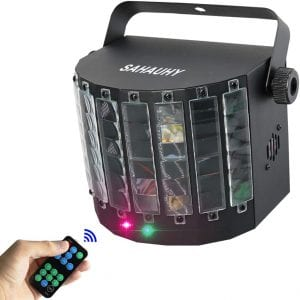 DJ Lights,SAHAUHY 2 in 1 Professional Stage Light Mixed Effect Sound Activated Party Lights By Remote or DMX Control