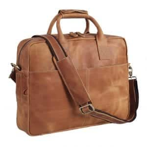 Polare Original Store Thick Automatic Full Grain Leather Briefcase
