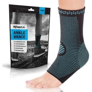 Powerlix Ankle Compression Socks with Arch Support
