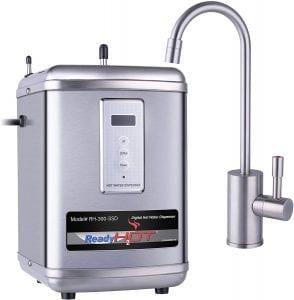 Ready Hot Water Dispenser, Digital Display Hot Water Dispenser, Includes Brushed Nickel Hot Water Faucet