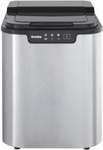 Danby DIM2500SSDB Portable Ice Maker, Stainless Steel