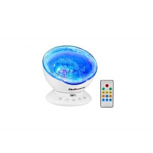 Delicacy Ocean Wave 12 LED Remote Control Night Light Projector