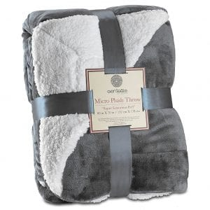 Genteele Super Soft Reversible Plush Luxurious Blanket