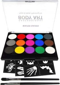 JinKeArt Professional Quality Body Paint Kit