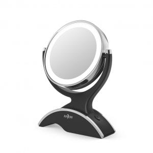Anjou LED Lighted Makeup Mirror, 360° Rotation