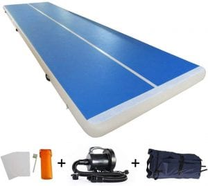 EZ GLAM 10ft:13ft:16ft:20ft Air Track Inflatable Gymnastics Tumbling Air Track Mat with Electric Air Pump