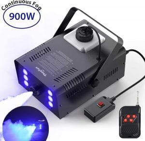 Fog Machine, Theefun 900W Smoke Machine with 4000CFM Fog, 6 Stage LED Lights with 7 Colors & Strobe Effect Hallowen Fog Machine-Wired and Wirelss Remote Control Fog Machine