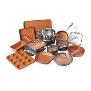 Gotham Steel Nonstick Cookware Set with Durable Copper