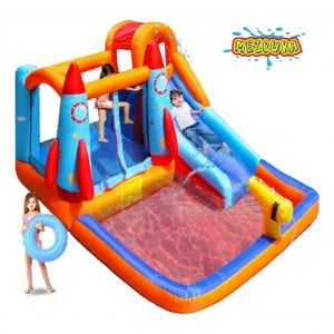 MEIOUKA Kids Bounce House Castle Inflatable Water Slide