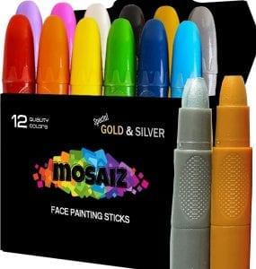 Mosaiz Washable Twistable Crayons Body Paint Kit