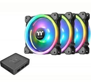 Thermaltake Riing Trio 12 RGB TT Premium Edition 120mm Software Enabled 30 Addressable LED 9 Blades Case Radiator Fan