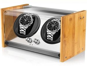 Watch Winders for Automatic Watches, Spacious for Mid to Big Size Rolex Double Automatic Watch Winder, Super Quiet Japanese Motor