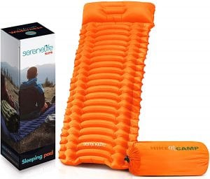 Backpacking Air Mattress Sleeping Pad - Self Inflating Waterproof Lightweight Sleep Pad Inflatable Camping Sleeping Mat w:Carrying Bag