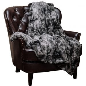Chanasya Fuzzy Faux Soft Fur Blanket for Spring and Winter