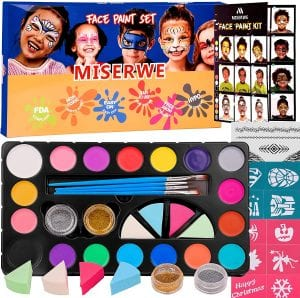 Miserwe Washable Body Face Paint Kit