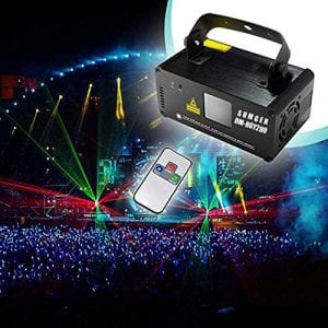 Sumger Professional DMX512 LED Stage Light RGY Laser Scanner DJ Disco Beam Stage Lighting Effect Laser Projector illumination Show Light Sound Activated with Remote