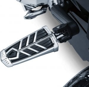 Kuryakyn 5658 Motorcycle Foot Control Component- Spear Footpegs without Adapters, Chrome, 1 Pair
