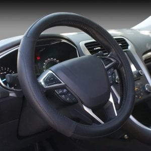 SEG Direct Universal 15-inch Black Microfiber Leather Steering Wheel Wrap