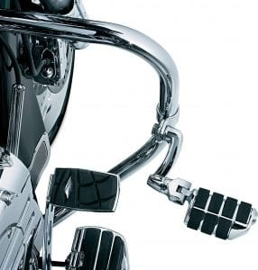 """Kuryakyn 4575 Motorcycle Foot Controls- Longhorn Offset Dually Highway Pegs with Magnum Quick Clamps for 1-1:4"""" Engine Guards:Tubing, Chrome, 1 Pair"""