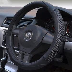 Moyishi Top Universal Fit Leather Steering Wheel Wrap