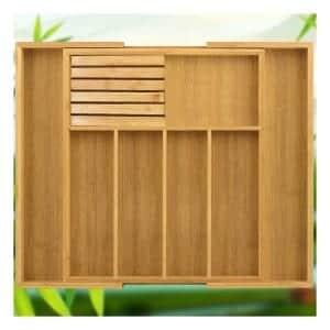 Pinshon Bamboo Drawer Organizer