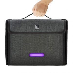 ANCROWN Ultraviolet LED Light Foldable Sanitizer Bag for Mobile Phones and Daily Necessities