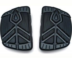 Kuryakyn 5653 Motorcycle Foot Control Component- Spear Mini Board Floorboards, Satin Black, 1 Pair