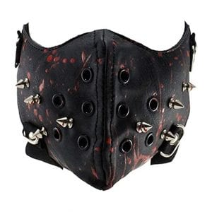 Steampunk Leather Half Face Mask