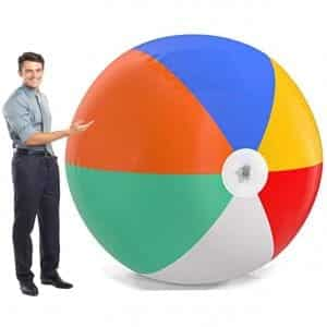 Top Race Giant 6 Foot Inflatable Beach Ball
