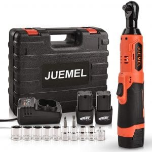 JUEMEL Cordless Electric Power Ratchet Wrench