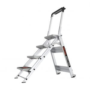Little Giant Ladder 10410BA Weight Rating Safety Four Step Ladder Step Systems
