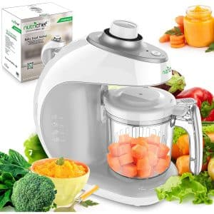Digital Baby Food Maker Machine - 2-in-1 Steamer Cooker and Puree Blender Food Processor with Steam Timer - Steam Blend Organic Homemade Food