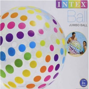 Intex Jumbo Inflatable Big Panel Colorful Giant Beach Ball