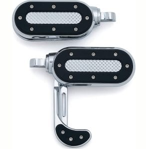 Kuryakyn 7027 Motorcycle Foot Control Component- Heavy Industry Switchblades with Male Mount Adapters, Chrome, 1 Pair
