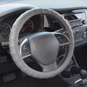BDK Universal Fit Genuine Leather Steering Wheel Wrap