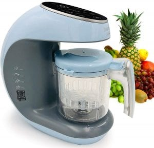 Baby Food Maker Chopper Grinder - Mills and Steamer 7 in 1 Processor - Steam, Blend, Chop, Disinfect, Clean, 20 Oz Tritan Stirring Cup